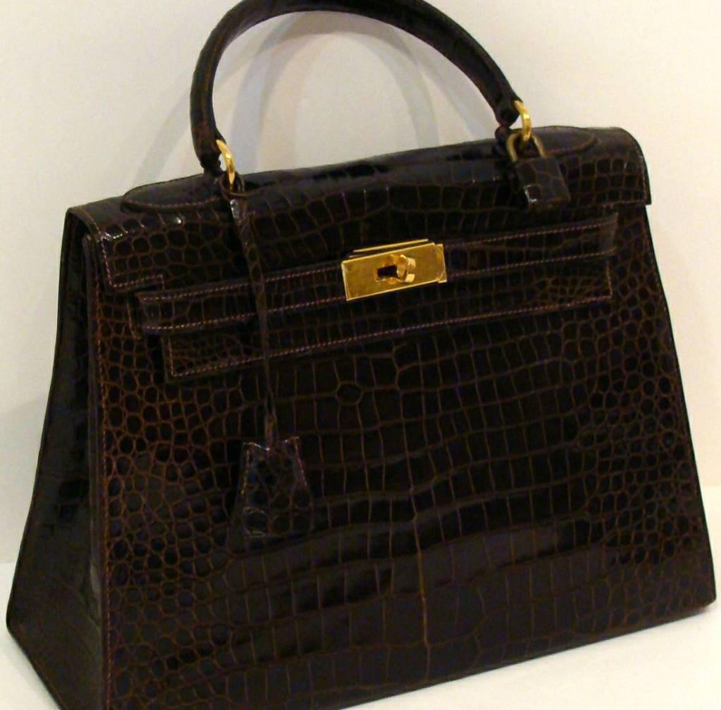 Hermes Crocodile Kelly Bag Handbag 4