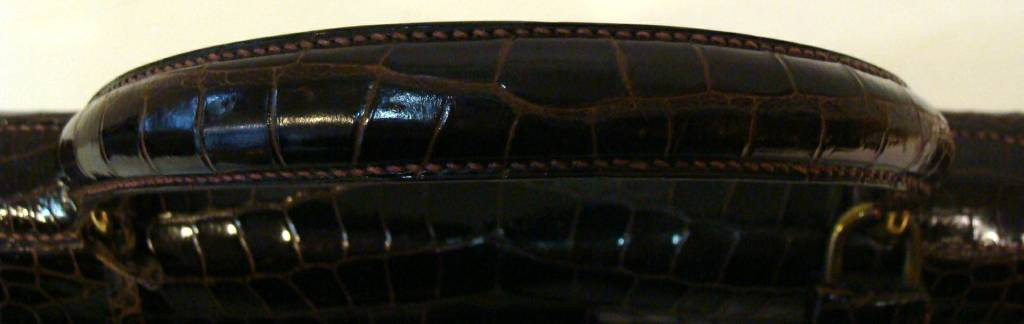 Hermes Crocodile Kelly Bag Handbag 8