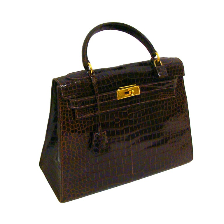 Hermes Crocodile Kelly Bag Handbag 1
