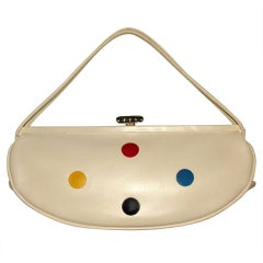 Spring! Rare Leather Baguette with Primary Color Dots