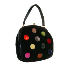 Rare, Large Bag with Large Colorful Dots