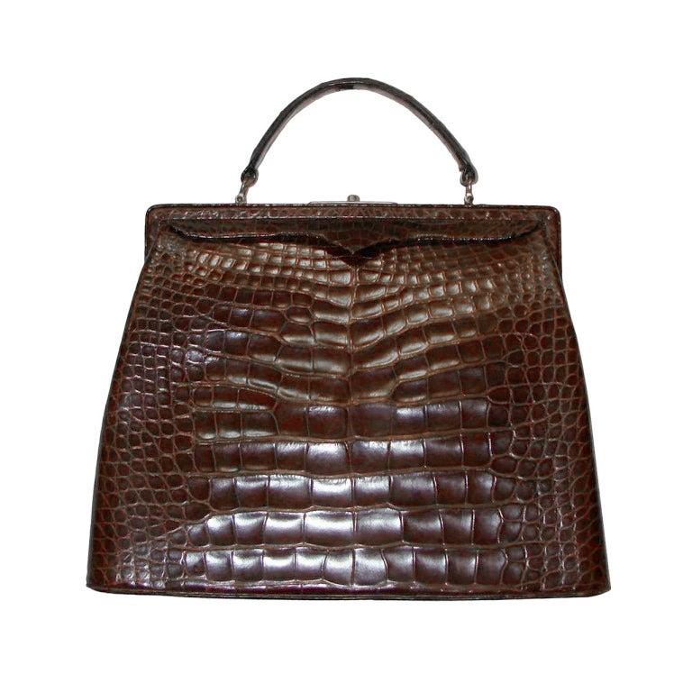 Amazing Large Best Form Alligator Kelly Bag