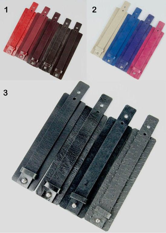 Black Rhodium S/S Heart Note Leather Cuff Bracelet 4