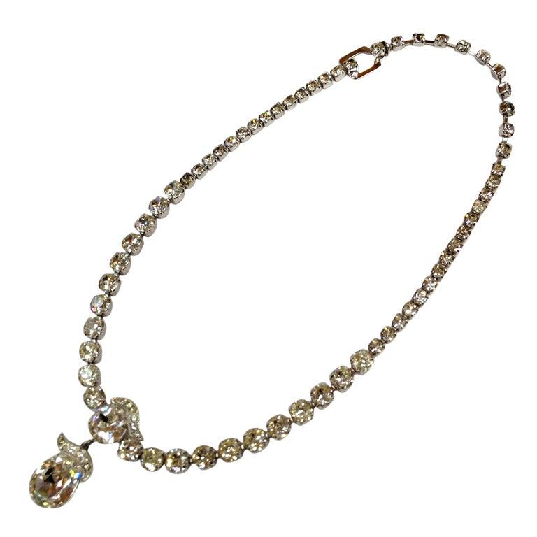 EISENBERG  Swarovski teardrop necklace