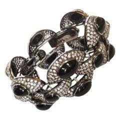 Stunning Swarovski Onyx Link Statement Bracelet