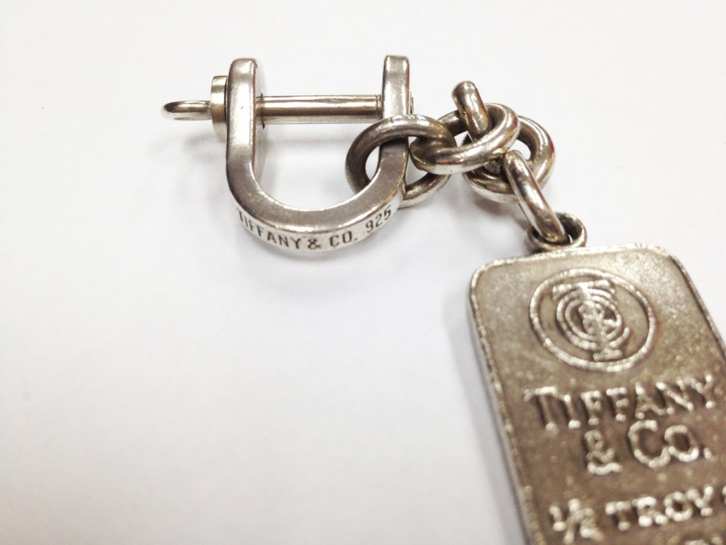 co sterling silver key ring with silver ingot