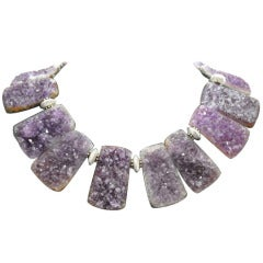 Sensational Genuine Natural Gem Amethyst Quartz Necklace