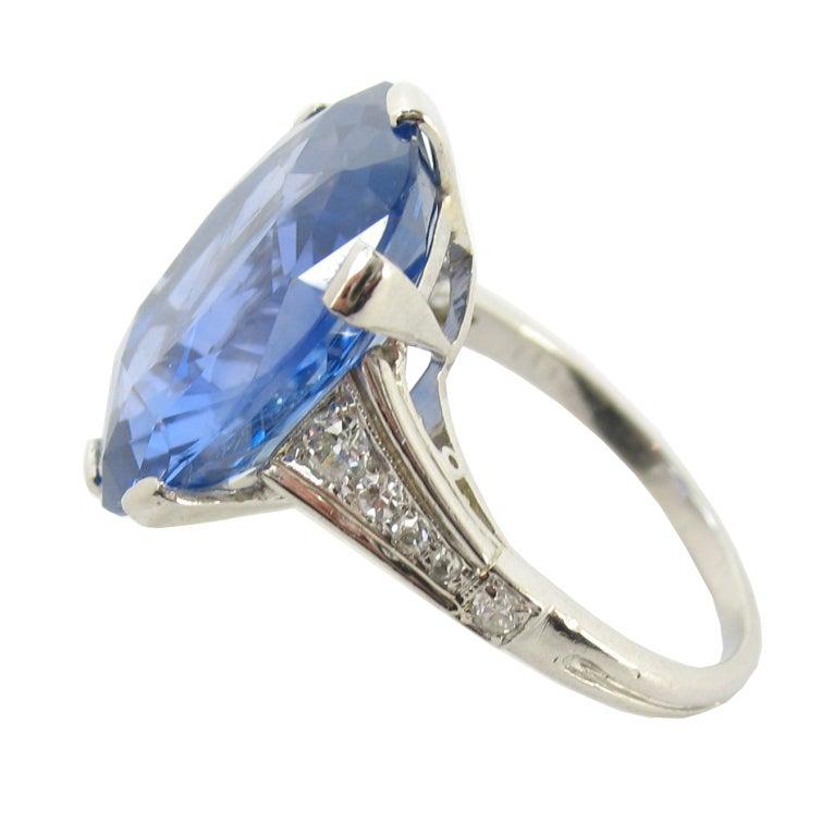 fabulous deco sapphire platinum ring at 1stdibs