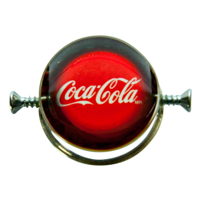 Rare Walter Schluep Coca-Cola Sterling Silver Ring 1