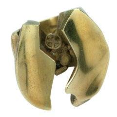 Lapponia Bjorn Weckström Finland Bronze Sculptural Ring