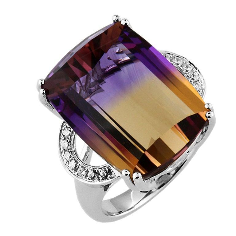 ametrine diamond gold ring at 1stdibs