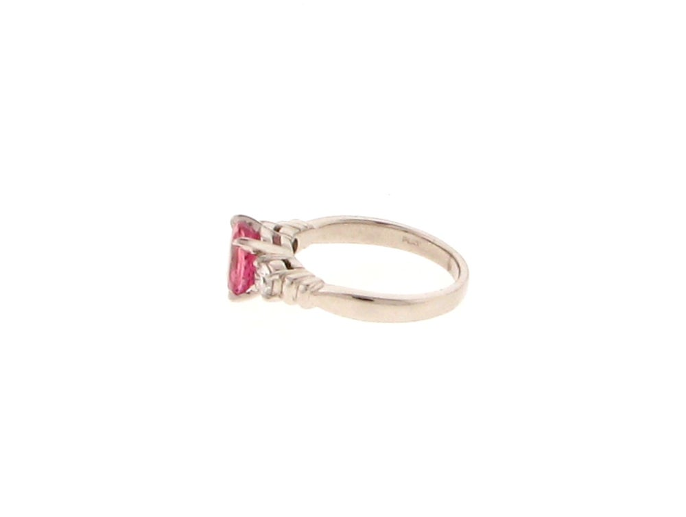 padparadscha pink sapphire platinum ring at 1stdibs