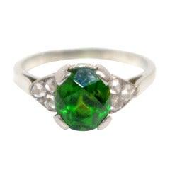 Edwardian Demantoid Garnet Ring