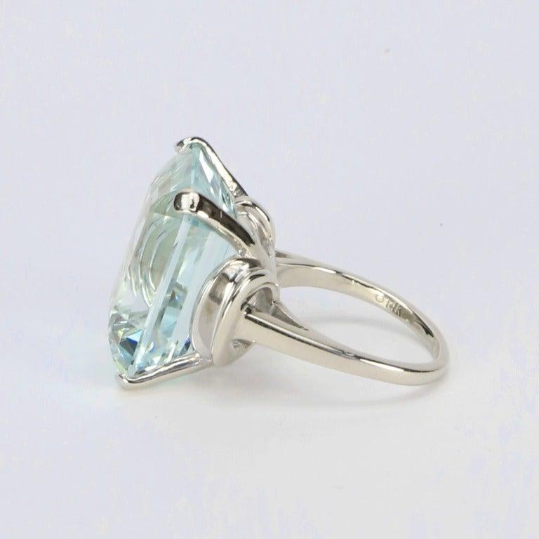 modernist aquamarine white gold ring for sale at 1stdibs
