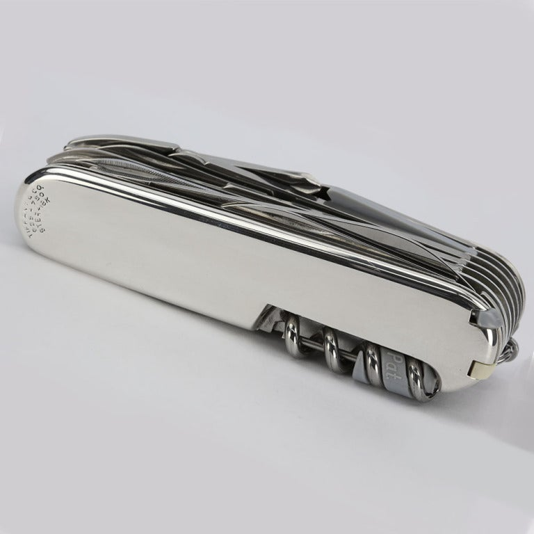Tiffany And Co Silver And 18k Gold Swiss Army Knife