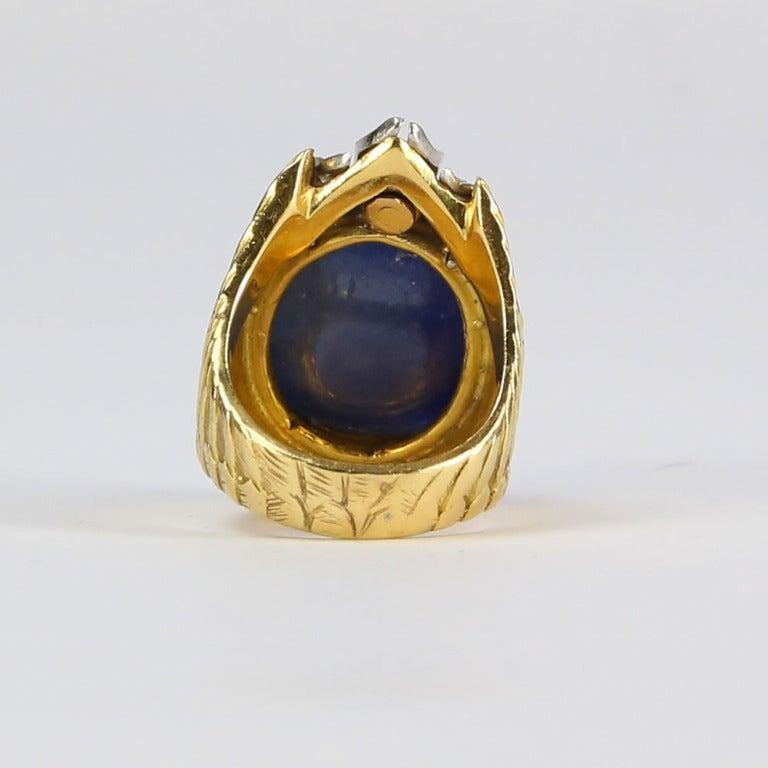 unique sapphire gold dress ring for sale