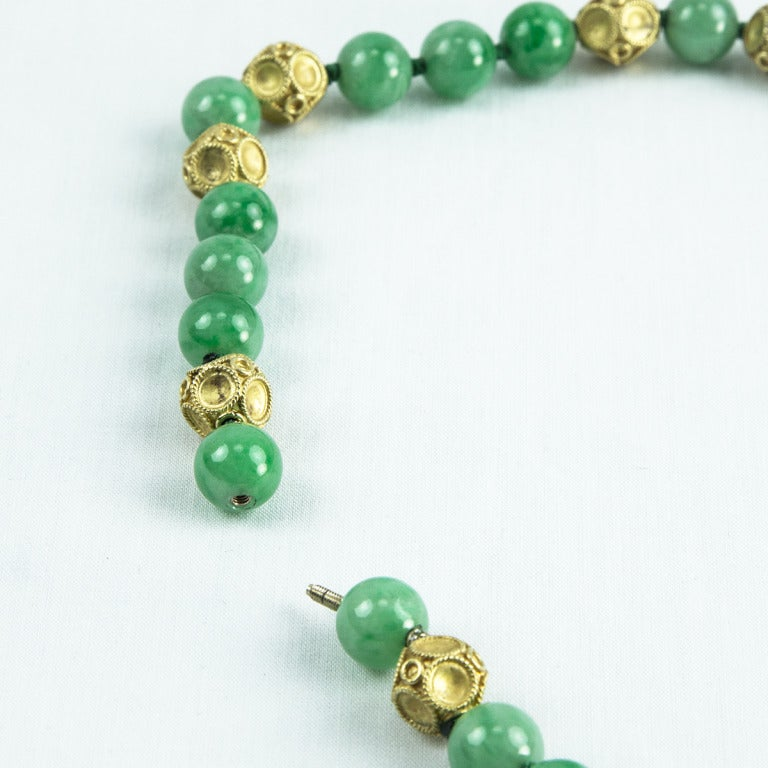 Outstanding Jade Gold Pendant Necklace 4