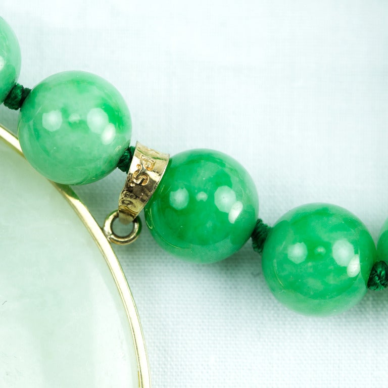 Outstanding Jade Gold Pendant Necklace 5