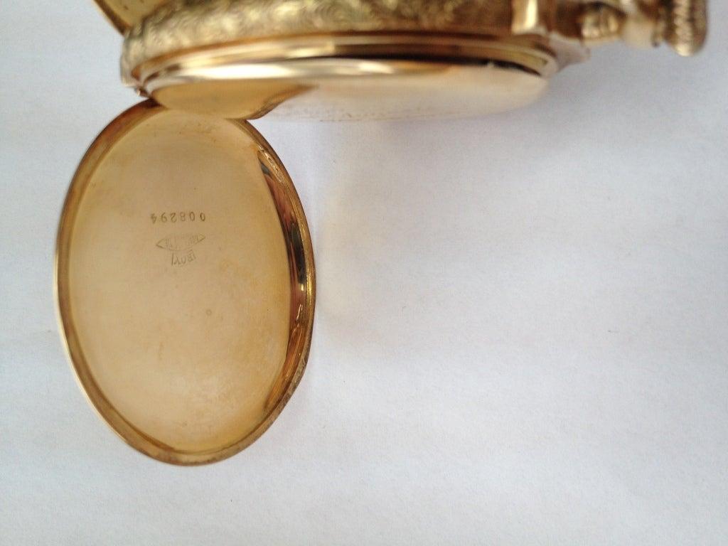 Elgin Multicolor Gold Diamond Hunter Case Pocket Watch 5