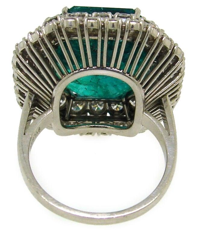 BULGARI 16.15 carats Emerald and Diamond Ring 7