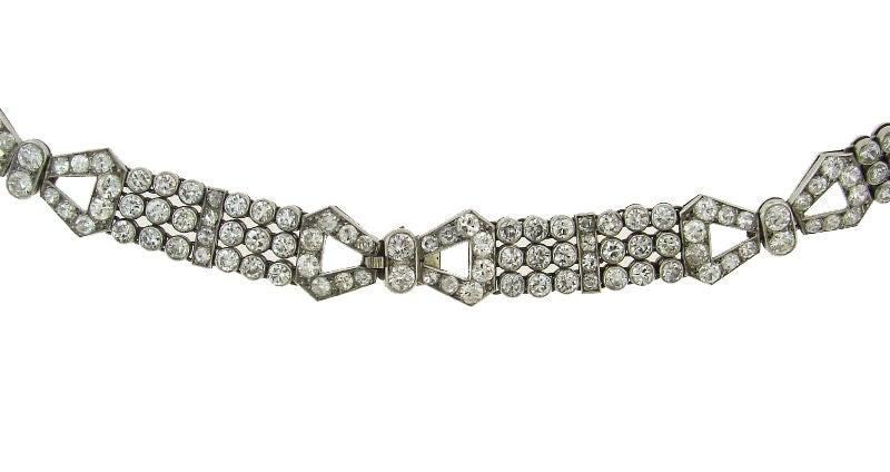 Art Deco Diamond & Platinum Necklace/Choker/Bracelets & Earrings 5