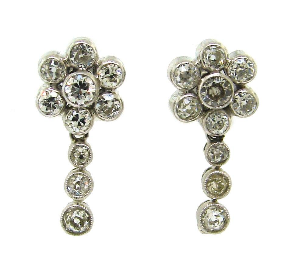 Art Deco Diamond & Platinum Necklace/Choker/Bracelets & Earrings 8