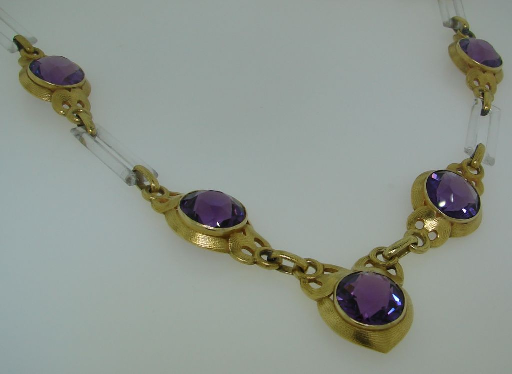 Cartier Amethyst Horn Yellow Gold Necklace For Sale 1