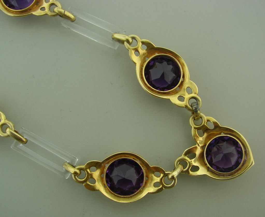 Cartier Amethyst Horn Yellow Gold Necklace For Sale 4