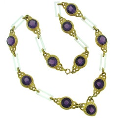 Cartier Amethyst Horn Yellow Gold Necklace