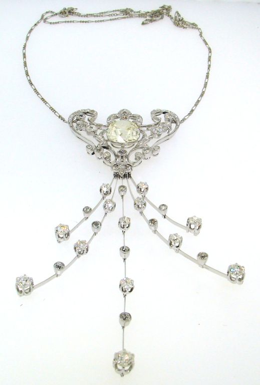 Interchangeable Diamond and Platinum Necklace/Brooch/Head ...