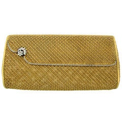 VAN CLEEF & ARPELS, NY  Diamond & Yellow Gold Evening Bag