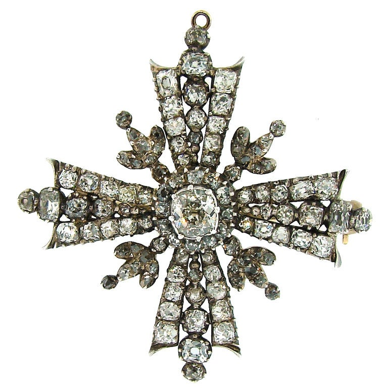 Victorian diamond silver and gold maltese cross pendant brooch victorian diamond silver gold maltese cross pendant brooch for sale mozeypictures Choice Image
