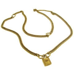 HERMES Yellow Gold Necklace / Bracelet