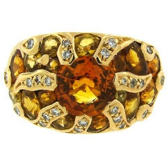 CHANEL Yellow Sapphire, Diamond & Yellow Gold Ring
