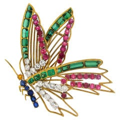 MELLERIO Diamond, Gems & Gold Butterfly Brooch