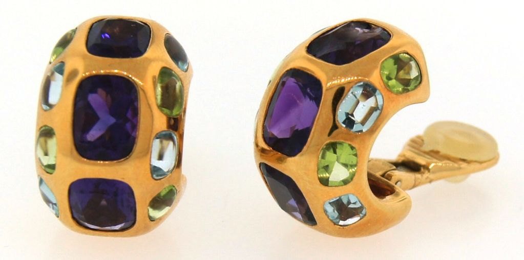 CHANEL Gemstones & Yellow Gold Ring & Earrings image 6