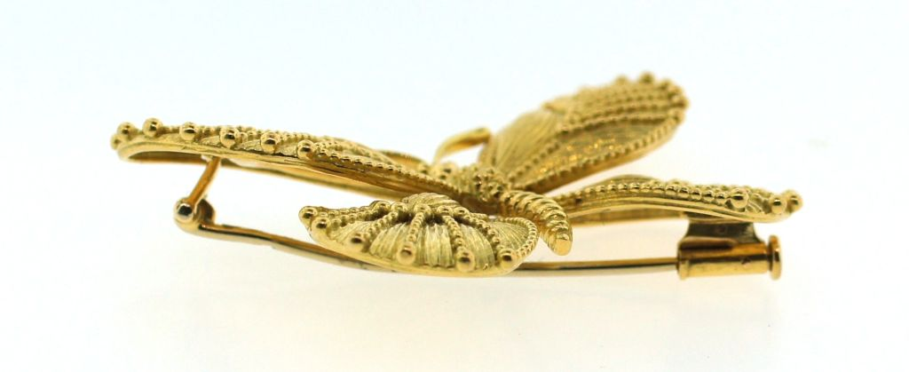 VAN CLEEF & ARPELS Yellow Gold Butterfly Pin 4