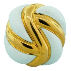A. Clunn Enamel Gold Ring