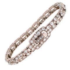 Art Deco CARTIER Diamond & Platinum Bracelet