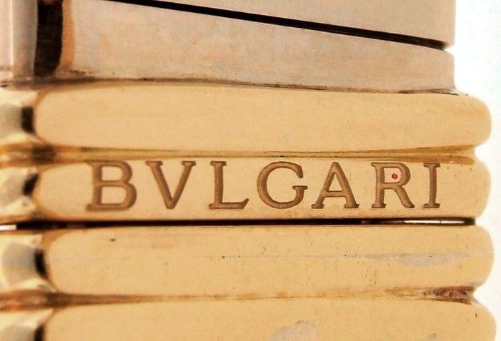 BULGARI Aquamarine Onyx Diamond Gold Tubogas Necklace image 9