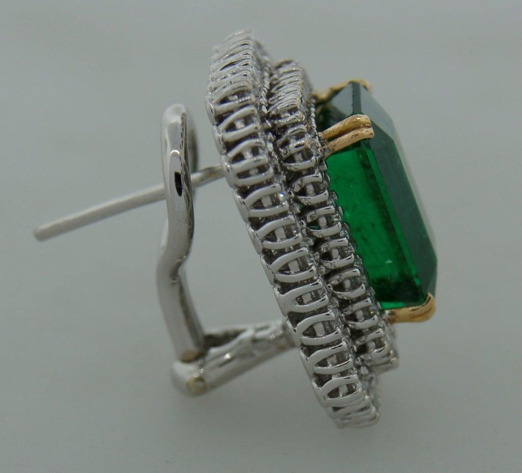 Emerald (AGL Certificate) Diamond & Platinum Earrings 5