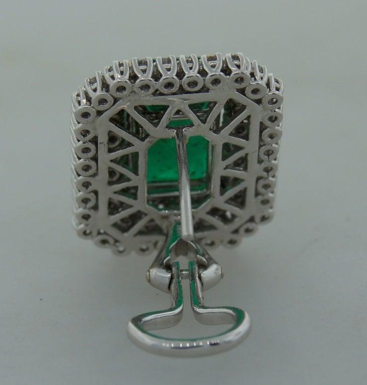 Emerald (AGL Certificate) Diamond & Platinum Earrings 6