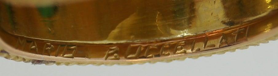 Mario Buccellati 7.51ct Cabochon Emerald & Yellow Gold Band Ring 6