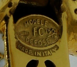 FRASCAROLO Diamond Enamel & Yellow Gold Tiger Bangle Bracelet For Sale 5