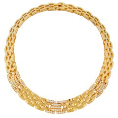 CARTIER Diamond Yellow Gold Rhodes Necklace 1990s