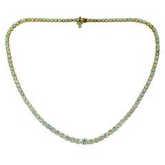 Harry Winston Diamond Yellow Gold Riviere Necklace