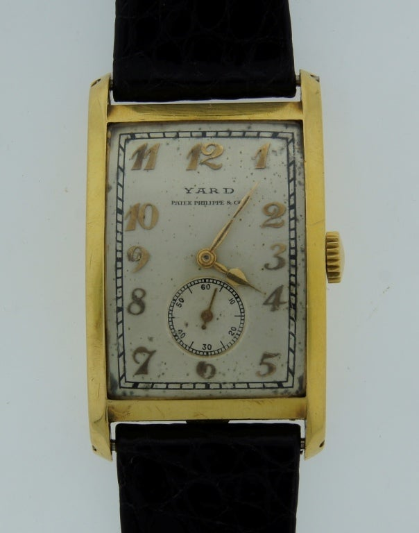 Patek Philippe Retailed by Yard Yellow Gold manual Wristwatch , circa 1930s In Good Condition For Sale In Beverly Hills, CA