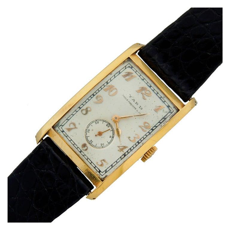 Patek Philippe Retailed by Yard Yellow Gold manual Wristwatch , circa 1930s