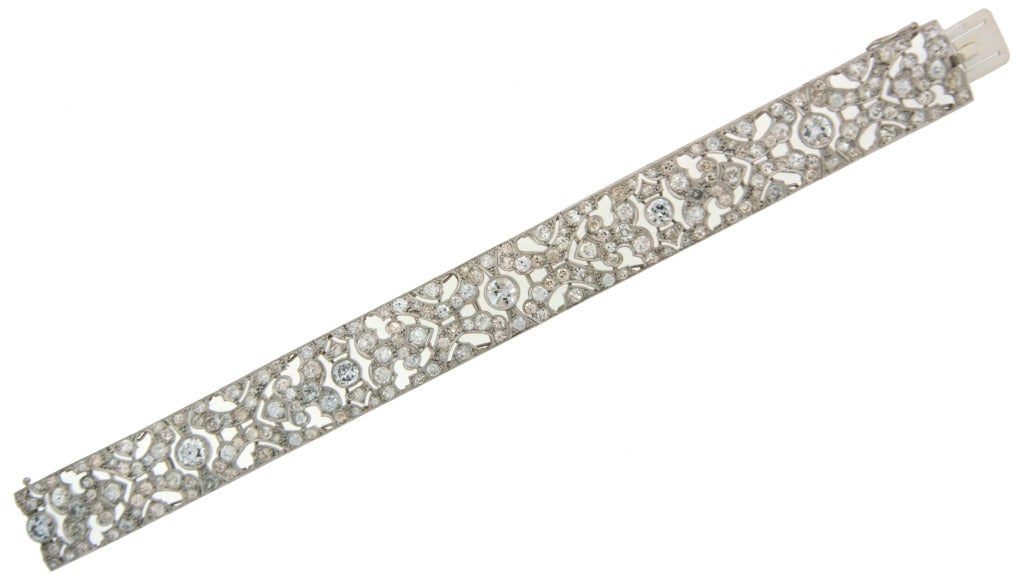 1920s Fontana Art Deco Diamond Platinum Bracelet 3