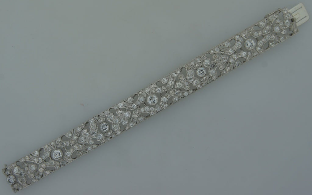 1920s Fontana Art Deco Diamond Platinum Bracelet 4